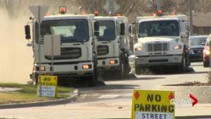 Neighbourhood street sweeping begins in Lethbridge (01:47)