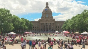 Celebrating Canada Day at the Alberta Legislature