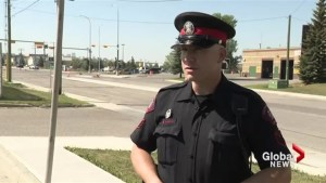 Calgary police talk about collision between pedestrian and cyclist