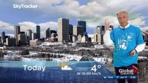 Edmonton early morning weather forecast: Wednesday, January 17, 2018