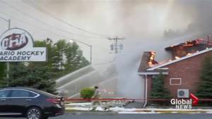 Elite hockey academy in Cornwall, Ont. gone up in flames (00:30)