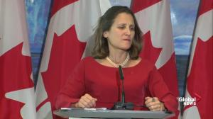 Freeland says there are 5 key areas where NAFTA is far apart