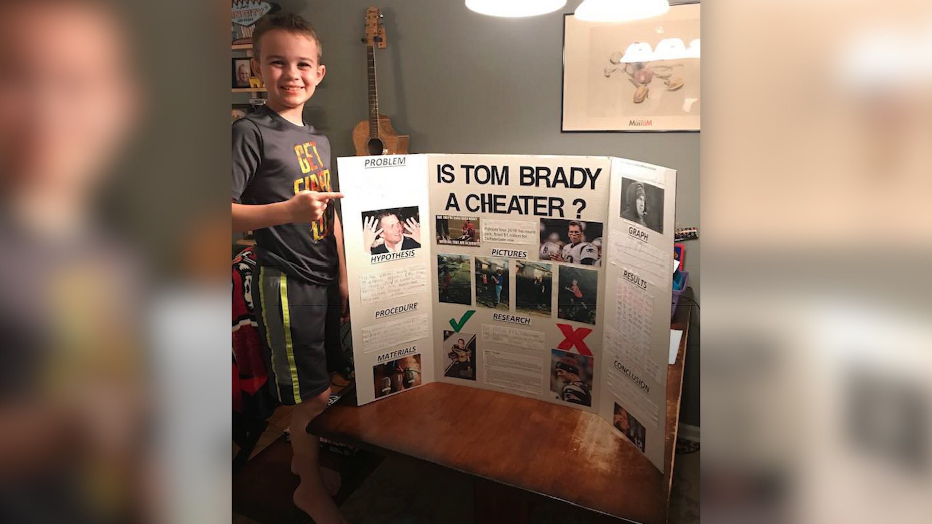 10-Year-Old's Winning Science Fair Project: 'Is Tom Brady a Cheater?'