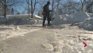 Weather wreaking havoc on sidewalks