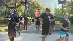 Hundreds take part in Canadian Police and Peace Officer Memorial ride and run