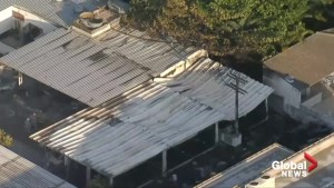 Aerial footage shows damage of deadly fire at Brazil soccer club