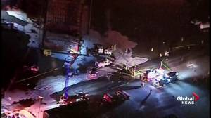 Aerial video of MarkWest Energy plant following explosion