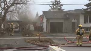 Fire Crews Battle Heavy Smoke in Kingston House Fire