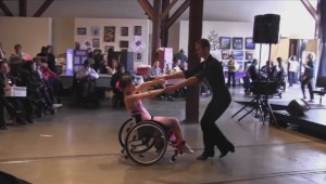 Wheelchair ballroom dancing