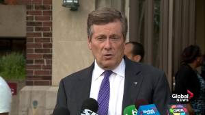 Church service for Danforth shooting victims was 'filled with love,' John Tory says (01:31)