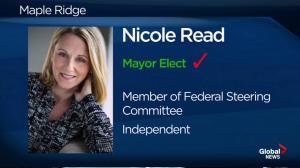 BC Civic Election: Nicole Read wins in Maple Ridge