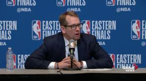 Raptors' head coach says they were slow on 'just about everything' in Game 2