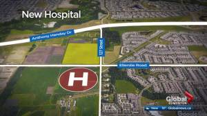 Plans for new hospital in southwest Edmonton unveiled
