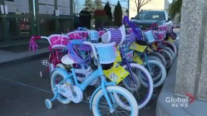 Toronto company's Christmas party builds, donates 292 bicycles to children in need