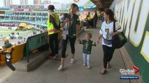 Family of Eskimos' Trevor Harris adjusting to life in Edmonton