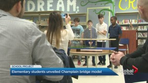 Elementary school students impress with scaled-down version of Champlain Bridge