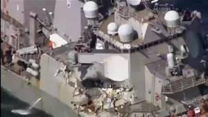 7 U.S. sailors missing after U.S. Navy Destroyer collides with merchant ship (01:41)