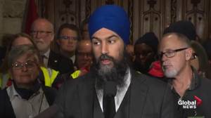 NDP slams Trudeau over postal worker back-to-work legislation (00:48)