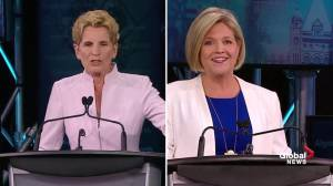 Ont. Leaders' Debate: Wynne, Horwath spar over collective bargaining