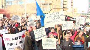 Prime minister's Calgary visit met by Alberta protestors