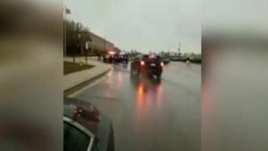 Maryland school shooting: Video shows police running into school