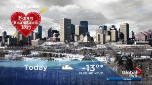 Edmonton early morning weather forecast: Wednesday, February 14, 2018