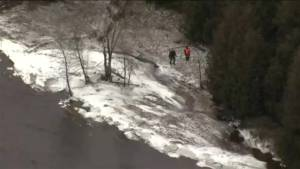 Aerial footage shows continuing search for missing three-year-old boy