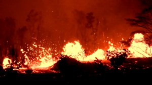 Lava fountains bubble to surface as Hawaii continues to cope with Kilauea volcano