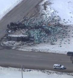 aerial video shows destruction at scene of humboldt broncos bus crash watch news videos online [ 1280 x 720 Pixel ]