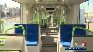 Edmonton's new Light Rail Vehicle on display