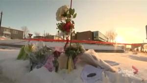 Growing memorial near site of Quebec City mosque shooting