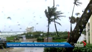 Subtropical storm Alberto barrelling toward Gulf Coast