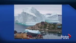 Massive iceberg threatens tiny town