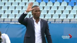 Drogba at Saputo Stadium