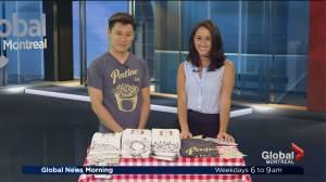 Clothing and souvenirs celebrating Quebec cuisine