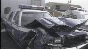 Archive footage shows crash scene involving Cst. Ian Jordan