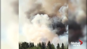 Video shows efforts to extinguish fire in Slave Lake