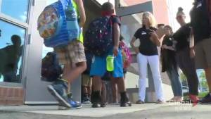 Students and teachers were back in class Tuesday for the first day of school (01:58)