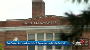 Parents confused over 2nd day of hold and secure at Toronto school