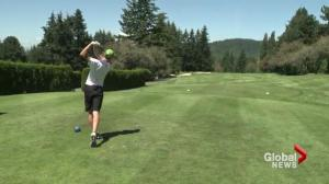15 Year old Nolan Thuroughgood leads the field at the B.C. Summer Games