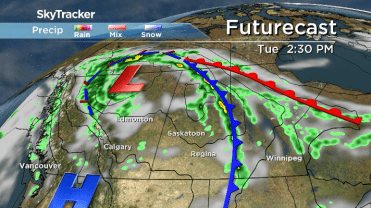 Cold Front On Weather Map.Saskatoon Weather Outlook Cold Front Takes Its Toll On Temperatures