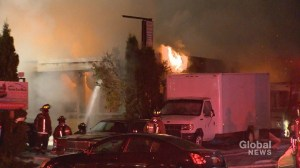 5-alarm blaze at east-end catering business being investigated by Toronto Fire