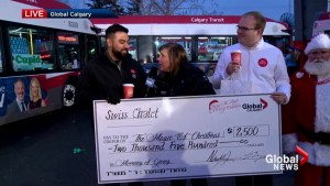 Swiss Chalet donates $2,500 to Morning of Giving