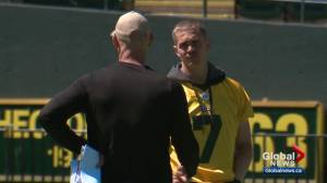 Eskimos make last-minute preparations ahead of game against the Als