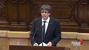 Catalonia's leader proclaims region's independence, suspends effects pending talks