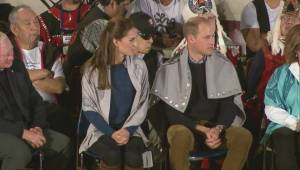 Prince William and Kate presented with dancing vests