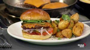 Mexican style burger with Rostizado