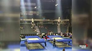 Winnipeg teens are first Manitoba synchro trampoline duo at nationals