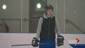 Red Deer's Breanna Beck has different experience at Alberta Winter Games as goalie coach