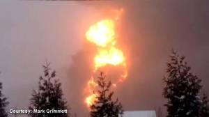 RAW: Train carrying crude oil derails in West Virginia